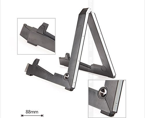 Signstek Portable Metal Collapsible Adjustable Anti-slip Classic Acoustic Guitars Bass Stands