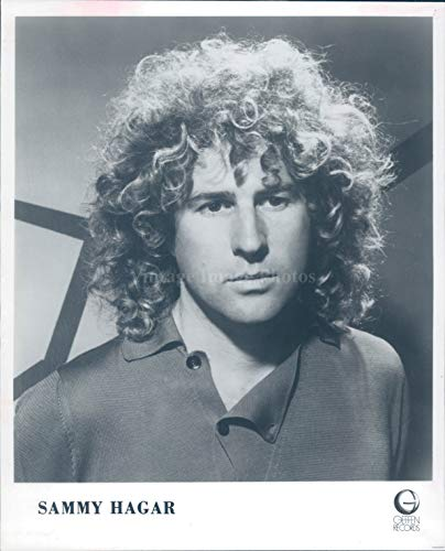 (Vintage Photos 1982 Photo Sammy Hagar Singer Red Rocker American Vocalist Musician Writer 8x10)