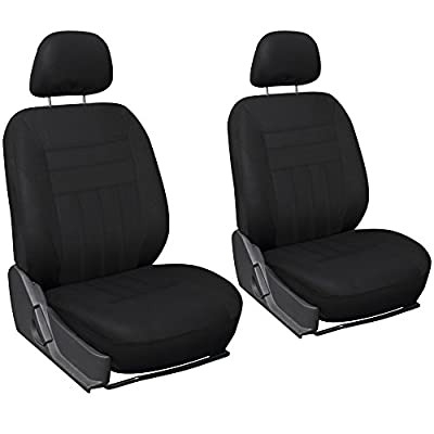 Oxgord 6pc Flat Cloth Bucket Seat Cover Set for Car/Truck/Van/SUV