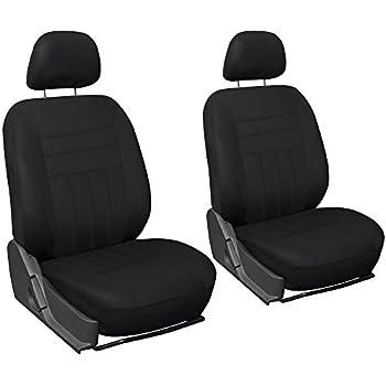 OxGord Flat Cloth Bucket Seat Cover Set for Car, Truck, Van, SUV - Black