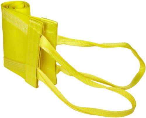 Mazzella WLA1-812 Nylon Attached Eye Web Sling, Wide-Lift, Yellow, 1 Ply, 6' Length, 12