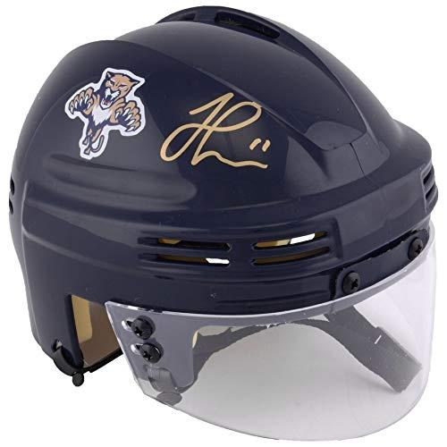 - Jonathan Huberdeau Florida Panthers FAN Autographed Signed Navy Mini Helmet - Certified Signature