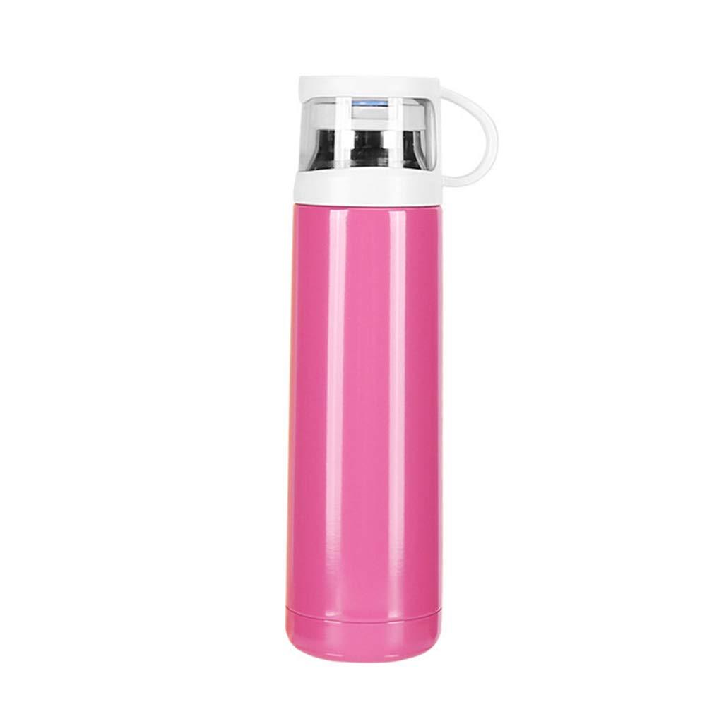 Sportflasche Isolier Becher Thermo Becher Travel Mug Kaffeebecher Wasserflasche Trinkbehälter Trinkflaschen-Koreanische Edelstahlversion des Einfachen Bechers JINRONG