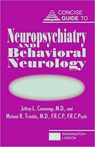 Concise guide to neuropsychiatry and behavioral neurology concise concise guide to neuropsychiatry and behavioral neurology concise guides 9781585620784 medicine health science books amazon fandeluxe Gallery