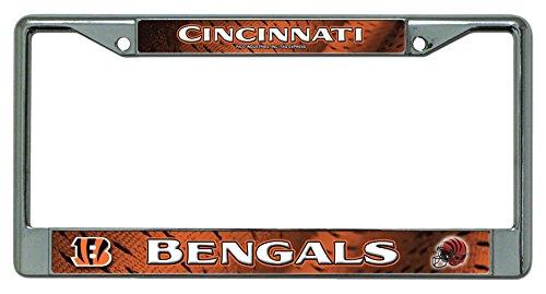 NFL Cincinnati Bengals Chrome Licensed Plate Frame