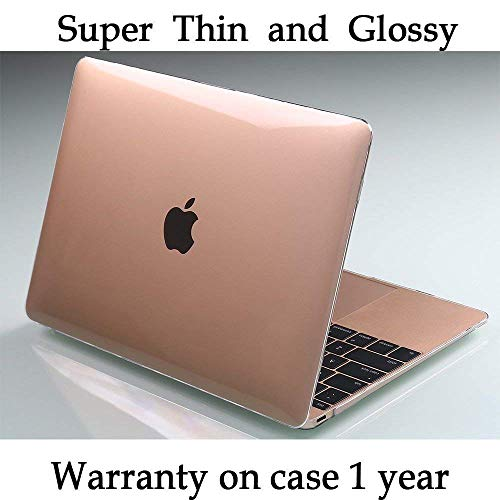 Twinscase 2018 New MacBook 12 Inch Cases(A1534) Transparent Clear,Ultra Thin Anti-Scratch Dustproof Rubberized MacBook Case Glossy Shell Cover for MacBook 12 Inch Retina Display