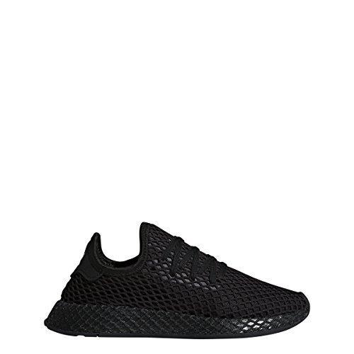 adidas Originals Deerupt Runner Shoe Juniors Casual, Core Black/Cloud White/Core Black, 4.5 M US Big Kid