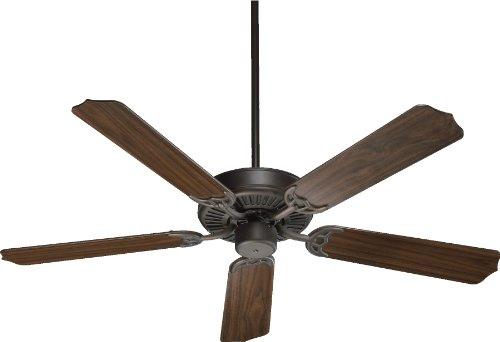 Quorum International 77525-86 Capri I 52-Inch Ceiling Fan, Oiled Bronze Finish with Reversible Blades