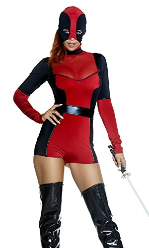 Forplay Women's Hunt You Down Sexy Movie Character Costume, red, S/M ()