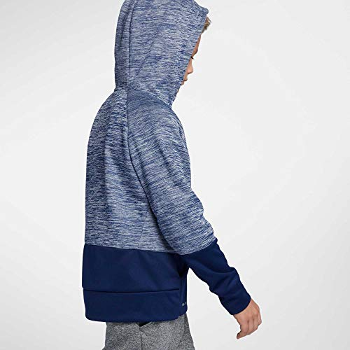 NIKE Boys' Therma Heathered Graphic Hoodie(Blue/Blue, X-Large) by Nike (Image #3)