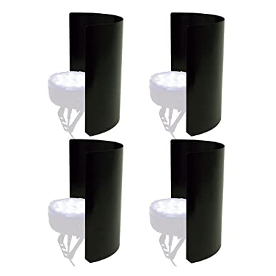 PSSL Light Shield 4 Pack For LED Fixtures - Black