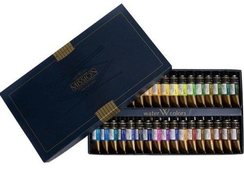 Mission Gold Water Color Set, 34 Colors