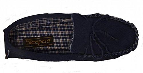 Herren Dunlop Wildleder 39 Moccasins 47 Größe aus Navy g1rd17qwc