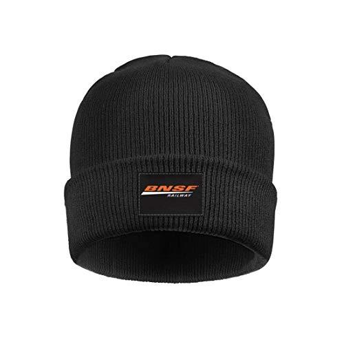 GRFF Unisex Black BNSF-Railway-Logo- Wool Caps Winter Outdoor Sport Ski Hat for Mens Womens Beanie Hats