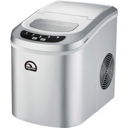 Igloo Portable Countertop Ice Maker, Dark Silver