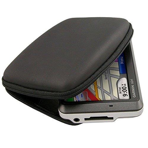eForCity? BLACK Zipper Pouch Bag Case Compatible with GPS Garmin nuvi 205W 200W