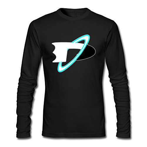 Guys Hot Topic Brand Danny Phantom Logo Long Sleeve T-Shirt Black US Size XL -