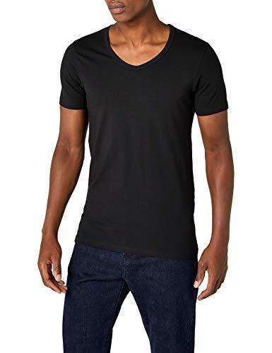 Black Jack S Basic s Jones V shirt T Neck amp; Da Uomo wSrZPwq