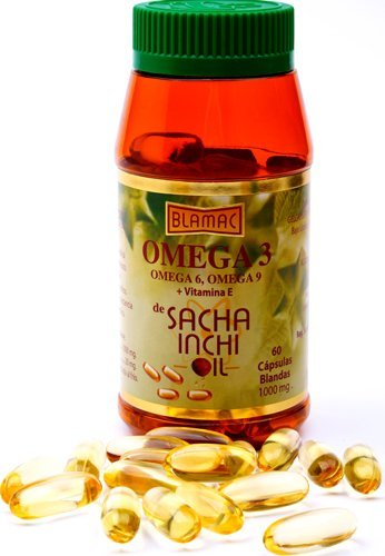 Sacha Inchi Omega 3 Oil 60 Soft Gel Capsules 1000 mgs Cholesterol Lowering Product by Blamac
