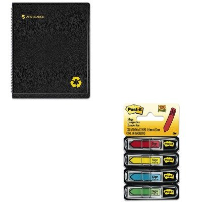 KITAAG70951G05MMM684SH - Value Kit - At-a-Glance Recycled Weekly/Monthly Professional Appointment Book (AAG70951G05) and Post-it Arrow Message 1/2amp;quot; Flags (MMM684SH)