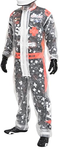 K1 Race Gear 1-Piece Karting Rain Suit (Clear, Medium) (Karting Rain Suit compare prices)
