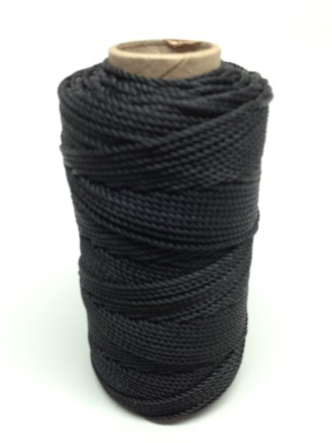 SGT KNOTS Tarred Twine (#18) Bank Line - 1/4 Pound - 100% Nylon Fiber - All-Purpose Utility Twine for Gear Bundles, Crafting, Tie-Down, Home Improvement, Landscaping, Construction (250 feet) - 100% Nylon Fibers