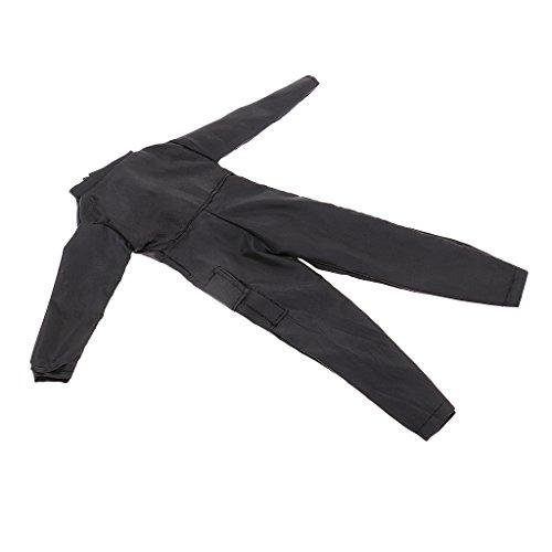 Perfk 1/6スケール ブラック スーツ服 ジャンプスーツ カバーオール 男性服 12インチアクションフィギュア用 人形アクセサリーの商品画像