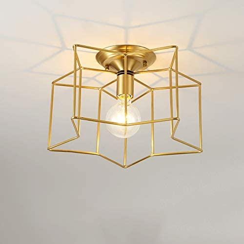 American Bedroom Ceiling lamp Living Room Room Children's Room lamp Five-Pointed Star Lighting LEIBAO