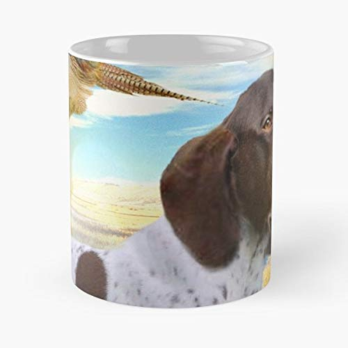- Dog German Shorthair Hunting Dogs - 11 Oz Coffee Mugs Unique Ceramic Novelty Cup, The Best Gift For Holidays.