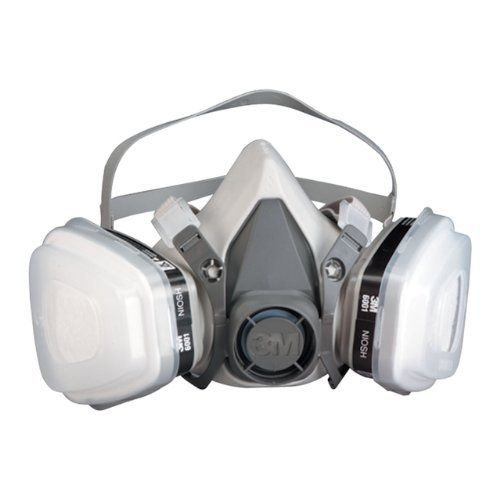 ERB Safety 13569 3M 51P71 5000 Series Half Mask Dual Cartridge Respirator with Certain Organic Vapors, Small, Gray Plastic -