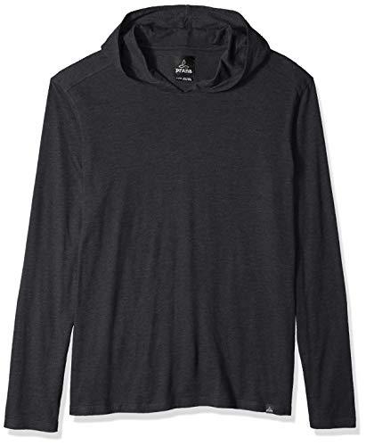 (prAna Men's Long Sleeve Hood, Black, Large)