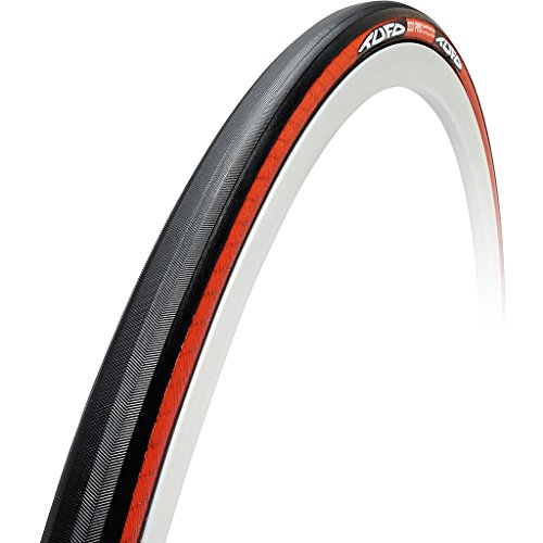 Tufo C S33 Pro Tubular Clincher Tire ,Black/Red, 700x21c, Folding (Tire Clincher Pro)