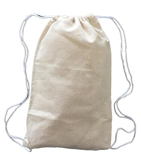 100% Cotton Mini Drawstring Bag Perfect Lightweight Festival Backpack