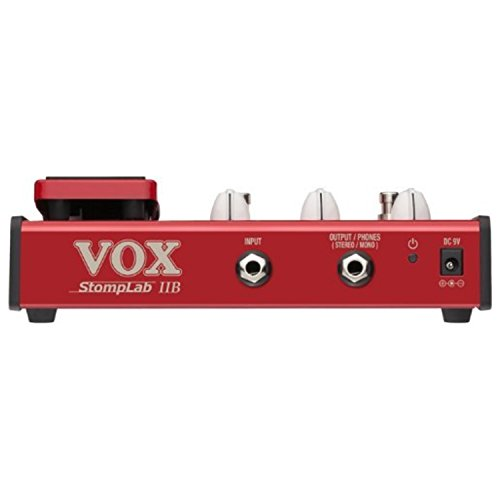 "Vox Stomplab2B Bass Effects Pedal w/(2) 6"" Patch Cables"