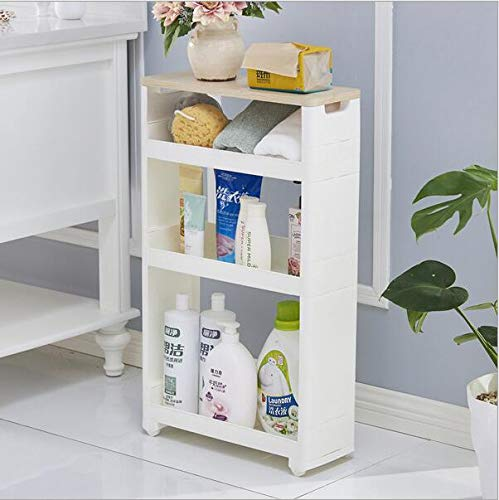 - Plastic Locker-Multi-Function Racks Siamese cabinets, Sewn Storage Racks, Kitchen Racks White 4Floor