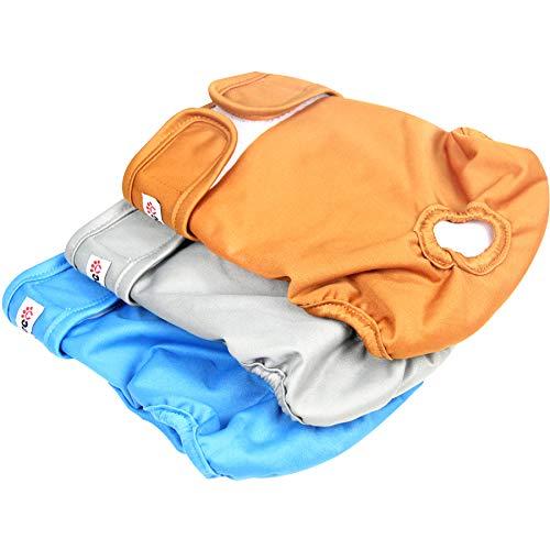 Wegreeco Washable Reusable Premium Dog Diapers, Extra Large,