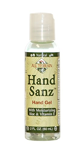 - All Terrain Hand Sanitizer with Aloe & Vitamin E 2oz, Moisturizing Hand Sanitizing Gel, Chemical & Carbomer-free, Safe Antiseptic Protection