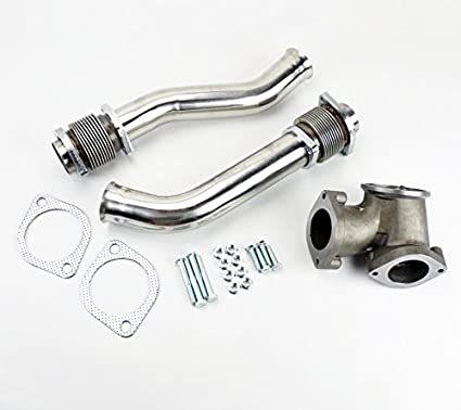 Powerstroke Turbo Diesel Hardware Exhaust Manifold Bellowed Up Pipe With Turbo Pedestal Exhaust Housing Up Pipes for 1999-2003 Ford F-250 F-350 E-350 7.3L