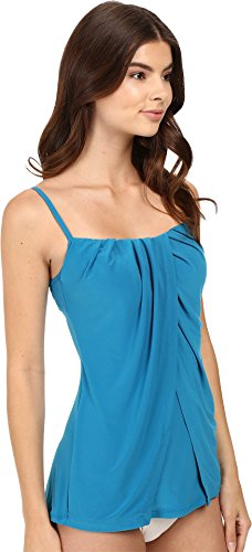 Miraclesuit Women's Miracle Solids Jubilee Tankini Top Peacock 14