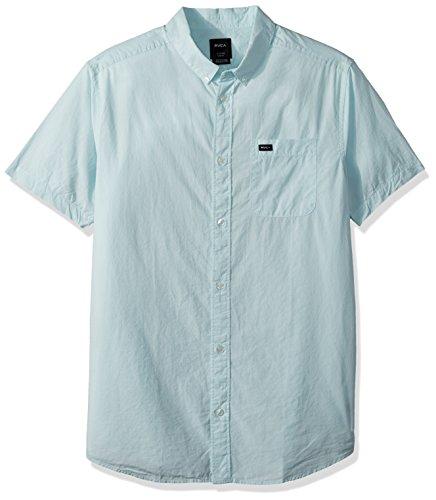 RVCA Men's Thatll DO Micro Short Sleeve Woven Shirt, Cosmos, M