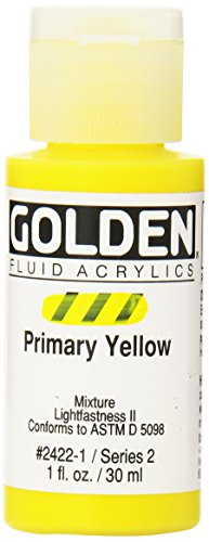(Golden Fluid Acrylic Paint 1 Ounce-Primary Yellow)