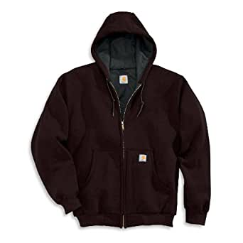 Carhartt Men's Thermal-Lined Hooded Zip-Front Sweatshirt - Closeout Pricing 2Xlarge Tall Dark Brown