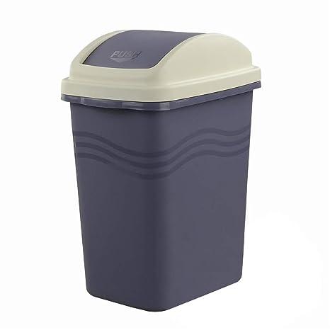 Mayish Plástico Púrpura 10 Litros Papelera Cubo de Basura Cubo Basura Reciclaje Con Tapa con 135 Bolsas de 10 Litros de Papeleras de Bolsas Basura