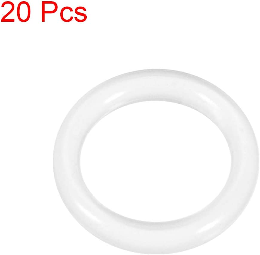 sourcing map Silicone O-Rings 2mm Width 6mm OD 2mm Inner Diameter Seal Gasket 20pcs