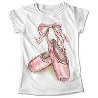Blusa Danza Colores Playera Zapatillas De Ballet 045