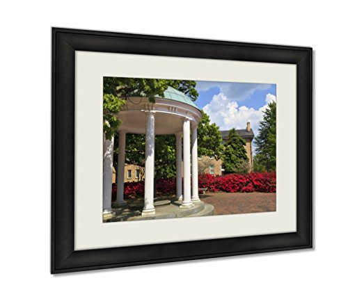 Ashley Framed Prints, Old Well At Unc Chapel Hill Wall Art Decor Giclee Photo Print In Black Wood Frame, Soft White Matte, Ready to hang, 16x20 (North Carolina Chapel Hill Framed)