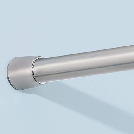 "26-42/"" White Adjustable Rustproof Shower Curtain Tension Shower Curtain Rod"
