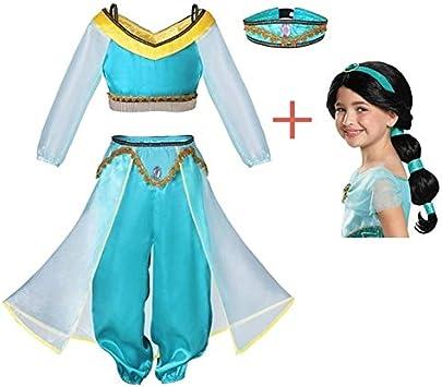 BCOGGWeihnachten Aladdin - Disfraz de Princesa jazmín para niña ...