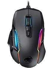 Roccat Kone AIMO Gaming Maus (hohe Präzision, Optischer Owl-Eye Sensor (100 bis 16.000 Dpi), RGB AIMO LED Beleuchtung, 23 programmierbare Tasten, Designt in Deutschland, USB) schwarz(remastered)