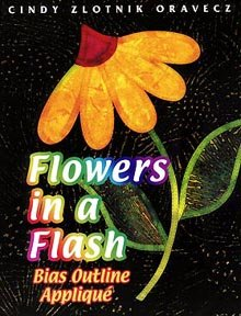 Flowers in a Flash: Bias Outline Applique